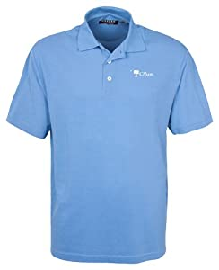 Oxford NCAA Men's Citadel Bulldogs 3-Button Polo With Hemmed Sleeves (Surf Blue, XX-Large)