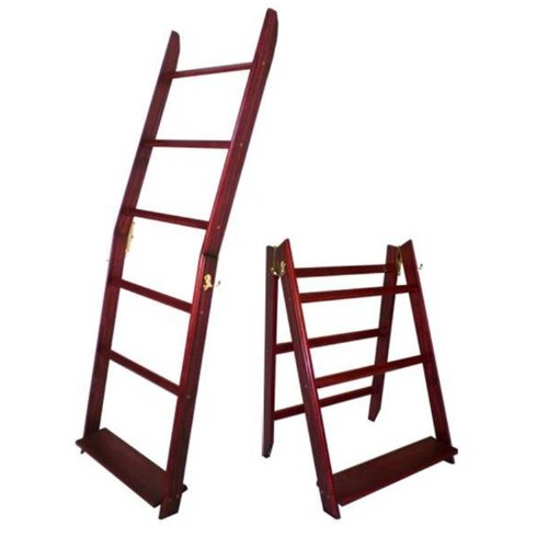 "The LadderRack Quilt Display Ladder- 5 Rung/24"" Model - It's 2 Quilt Racks in 1!"
