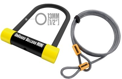 OnGuard Bulldog MINI DT 5015TC Bicycle U-Lock and Extra Security Cable