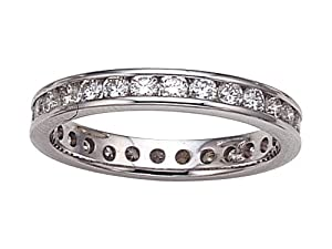 Karina B(tm) Round Diamonds Eternity Band in Platinum 950 Size 4 LIFETIME WARRANTY