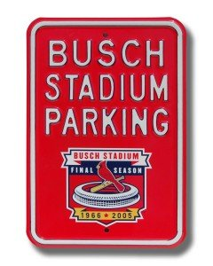 St. Louis Cardinals Busch Stadium Parking Sign