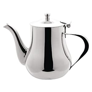 arabian tea pot 32oz capacity stainless steel teapot kitchen home. Black Bedroom Furniture Sets. Home Design Ideas