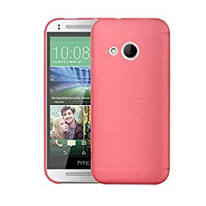 HTC One Mini 2 Case, Thin Fit Frosted Paper Armor Case Back Cover for HTC One Mini 2 (Red)