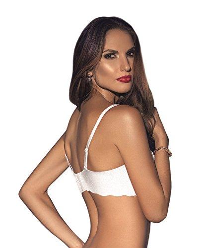 bb843665ea Vanessa Lingerie Women s Sexy Lace Underwire Strapless Bra 34B White