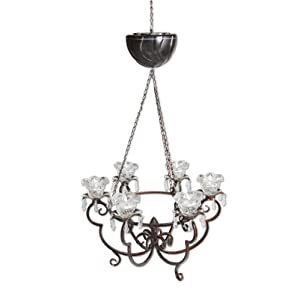Click to buy LED Outdoor Lighting: Exhart Anywhere Lighting Battery Operated Chandelier from Amazon!