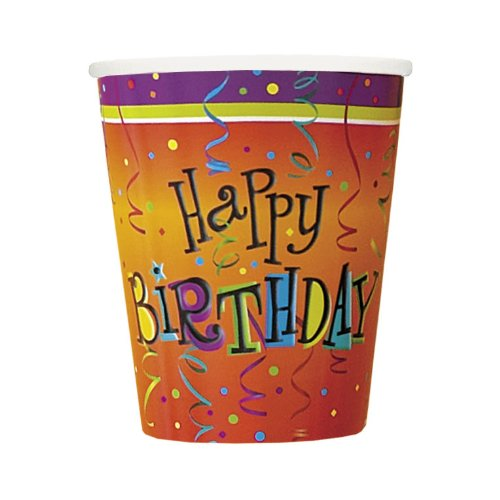 Lively Birthday 9 oz. Paper Cups