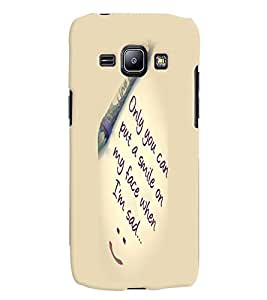 Fuson Premium Only You Printed Hard Plastic Back Case Cover for Samsung Galaxy J1 SM-J100H
