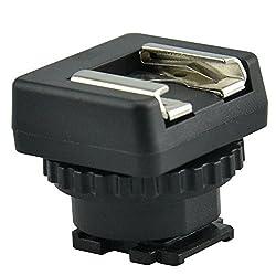 JJC MSA-MIS Standard Cold Shoe Adapter Converter for Sony Multi Interface Shoe Camcorder (Black)