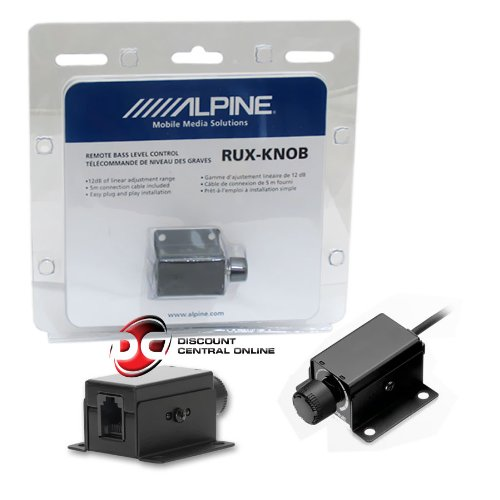 Alpine RUX-KNOB Remote Bass Level Control Knob for PDX-M12 and PDX-M6