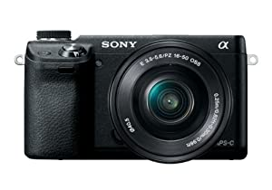 Sony NEX-6L/B Compact Interchangeable Lens Digital Camera with 16-50mm Power Zoom Lens and 3-Inch LED (Black)