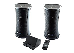 Sabrent Weather Resistant 900MHz Wireless Indoor/Outdoor 150 FT 2 Speaker System with Remote and Dual Power Transmitter (SP-NELO)