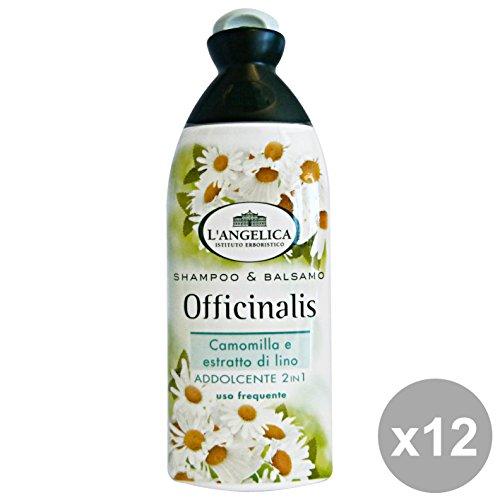 Set 12 L'ANGelICA Shampoo Addolcente Camomilla-LINo 250 Ml. Prodotti per capelli
