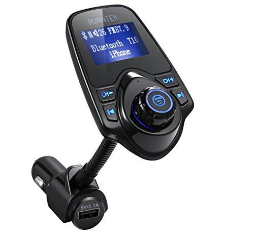 AVANTEK Trasmettitore FM Bluetooth, Chiamate Hands-free per Auto, Lettore MP3, Supporta Musica nei Formati MP3 WMA su TF/ Micro SD Card
