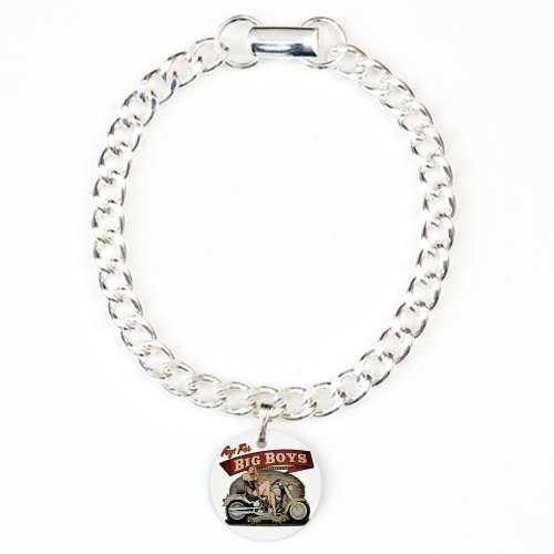 Charm Bracelet Toys for Big Boys Lady on Motorcycle