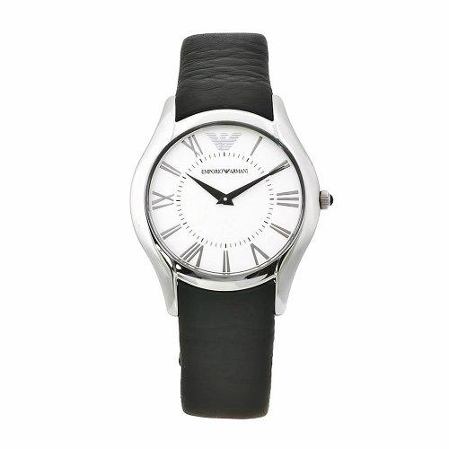 Emporio Armani AR2021 - Reloj analógico de cuarzo para mujer con correa de piel, color negro