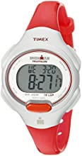 "Timex Women's T5K7419J ""Ironman Traditional"" Sport Watch with Orange Resin Strap"