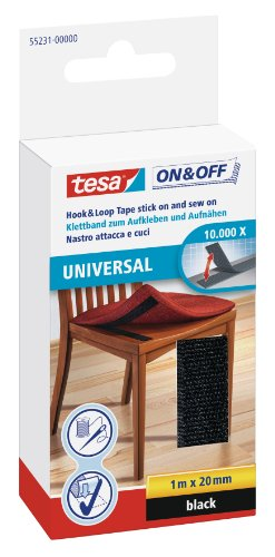 tesa-on-off-bande-auto-agrippante-a-coudre-et-a-coller-universal-blanc-1m-x-20mm