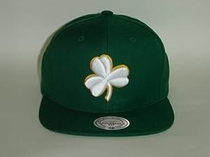 Mitchell and Ness NBA Boston Celtics Kelly Green Team Logo 2 Tone Snapback Cap by Mitchell & Ness