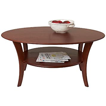 Manchester Wood Oval Cherry Coffee Table - Heritage Cherry