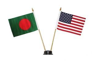 Usa Bangladesh Small 4 X 6 Inch Mini Double