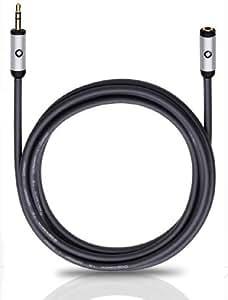 Oehlbach Kopfhörer-Verlängerungskabel (3,5 mm Klinke) 5m, schwarz (90586)