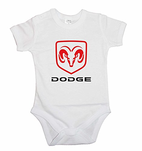 baby-body-dodge-logo-a-maniche-corte-bianco-12-mesi