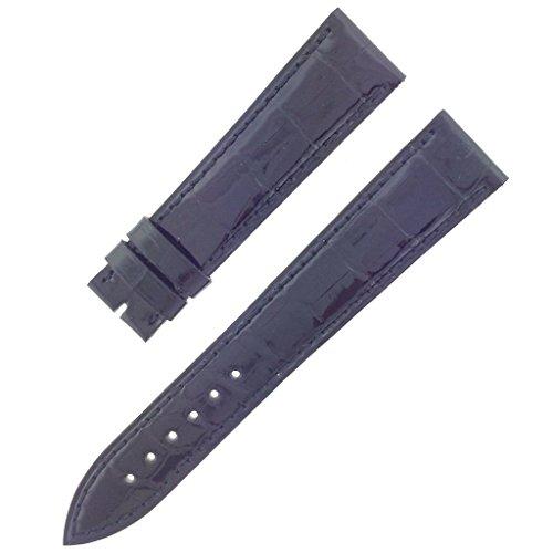 franck-muller-19-16-mm-echt-alligator-leder-schwarz-glanzend-armbanduhr-band