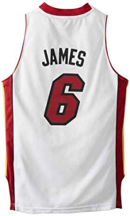 NBA adidas LeBron James Miami Heat Youth Revolution 30 Swingman Performance Jersey -... by adidas