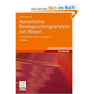 Numerische beanspruchungsanalyse von rissen finite for Finite elemente in der baustatik