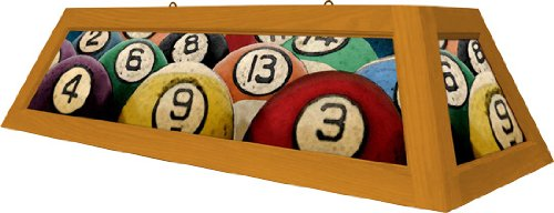 Pool Table Light Box Style Rack Em Oak Stain