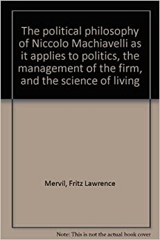 Political philosophy and machiavelli