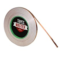 1/4 inch x 55 yds Copper Foil Tape - (6mm x 50m) - EMI Shielding Conductive Adhesive