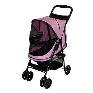 Pet Gear Happy Trails No Zip Pet Stroller, Pink Diamond