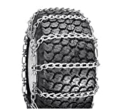 2 Link Spacing TIRE CHAINS ( 18x6.5x8 ) for HUSQVARNA / AYP / MTD / ARNOLD / MURRAY TRACTOR SNOW CHAIN