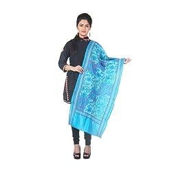 Darbari Women's Stole (OL-413_Blue_Free Size)