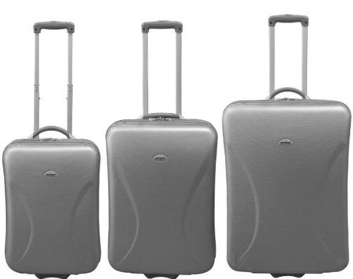 3tlg ABS Kofferset Silber