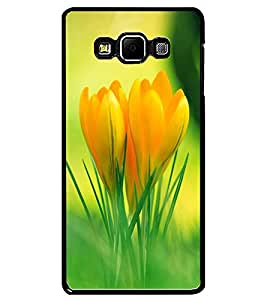 ColourCraft Lovely Flowers Design Back Case Cover for SAMSUNG GALAXY A7