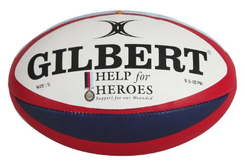 Gilbert Men's Help For Heroes Rugby Licensed Ball, Size 5