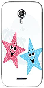 Snoogg pair of little starfish Designer Protective Back Case Cover For Micromax A117