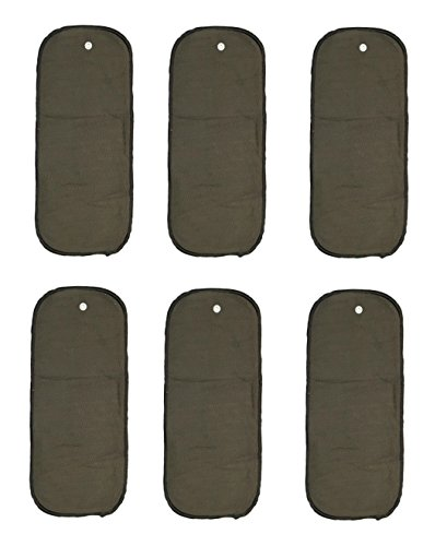 (6 Pack) HappyEndingsTM Snap-in 5 Layer Charcoal Bamboo Inserts for All In Two (AI2) Diapers
