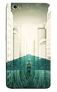Omnam Person Drcing Baot In The City Printed Designer Back Cover Case For Gionee S6