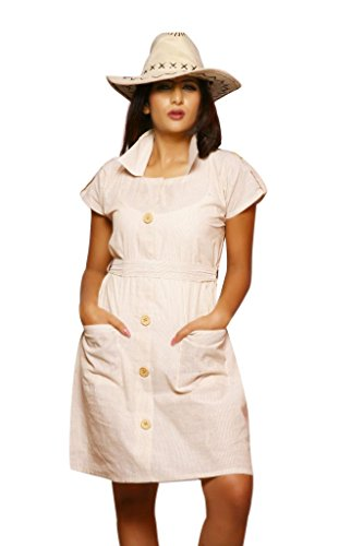 Weaves Suvasthra Weaves Women's Kurti (White)