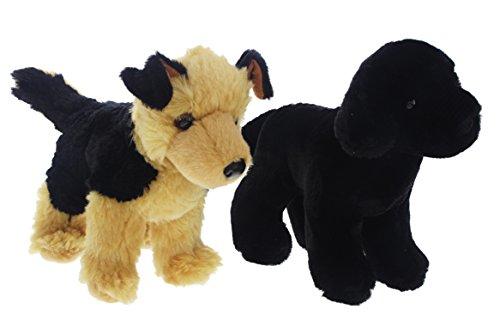 bundle-of-2-douglas-plush-8-cuddly-dogs-black-lab-german-shepherd