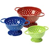 Prepworks from Progressive International Set of Mini Colanders, Blue, Green and Red