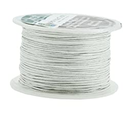 Mandala Crafts® 1mm Waxed Cord, for Beading and Macrame Supplies, 100 Meters, 109 Yards White