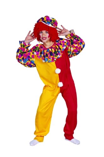 Child's Clown Halloween Costume (Size:Small 4-6)