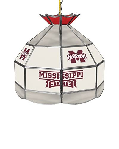 Trademark Global 16 Mississippi State University Stained Glass Tiffany-Style Pendant Lamp