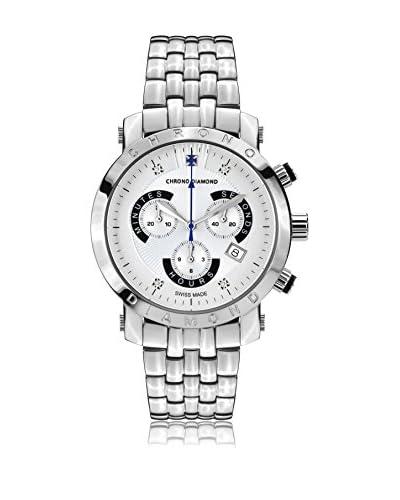 Chrono Diamond Uhr mit schweizer Quarzuhrwerk Man 10600Ar Nestor silberfarben