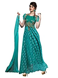 Parisha Latest Collection of Gown in Rasal Net Fabric & in attractive Sky Blue Color
