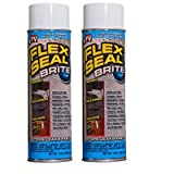 Flex Seal 14-Ounce As Seen on TV Liquid Rubber Sealant in a Can, Brite (2 Pack Special)